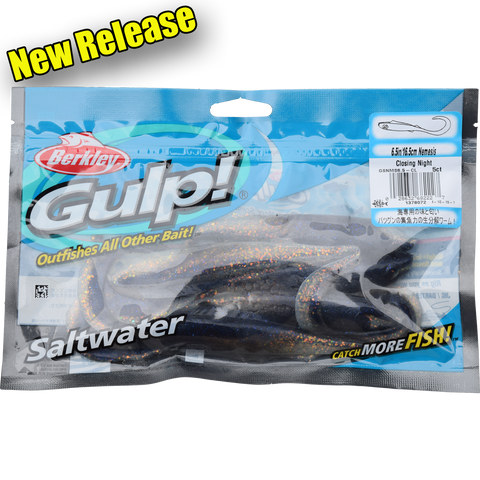 "Gulp Soft Bait Packet 6.5"" Nemesis"