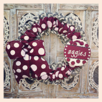 Custom Scrunched Burlap Wreaths, Swags, and Garlands by Sassy Chic Boutique!