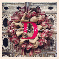 Custom Initial Wreaths, Swags, and Garlands by Sassy Chic Boutique!