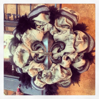 Custom Fleur-De-Lis Wreaths, Swags, and Garlands by Sassy Chic Boutique!