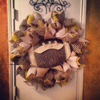 Custom Sports Themed Wreaths, Swags, and Garlands by Sassy Chic Boutique!