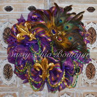 Custom Mardi Gras Wreaths, Swags, and Garlands by Sassy Chic Boutique!