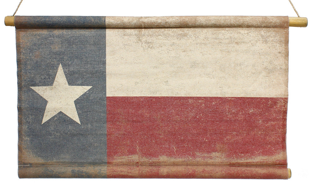 "Home Decor-Red White and Blue Texas Flag Banner with Rope Hanger - 47"" x 29""-Sassy Chic Boutique"
