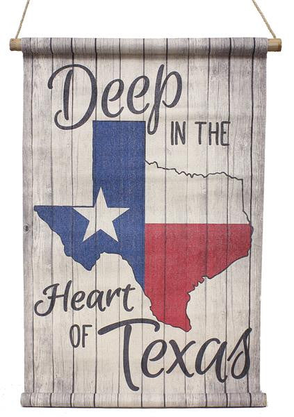 "Home Decor-29.5"" Deep In The Heart of Texas Flag Banner-Sassy Chic Boutique"