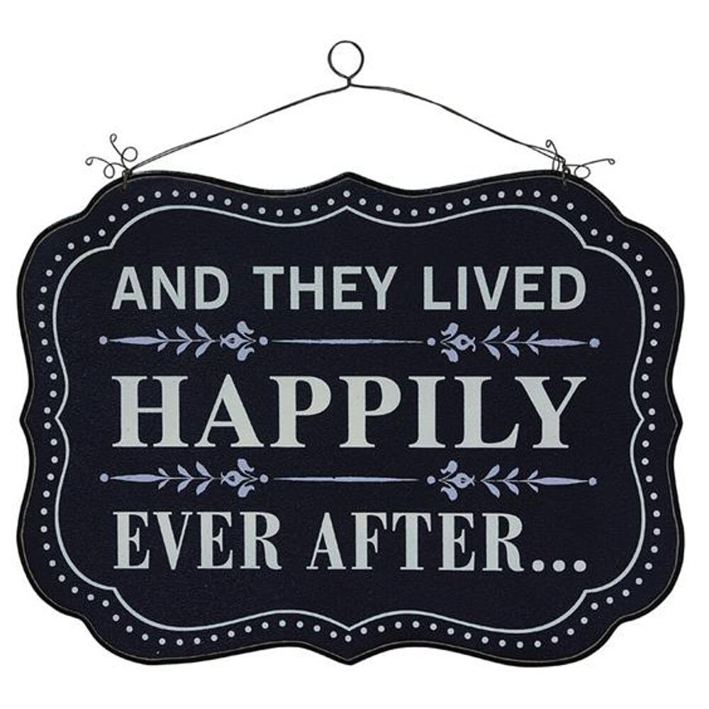 "Home Decor-15"" x 12"" And They Lived Happily Ever After Sign-Sassy Chic Boutique"