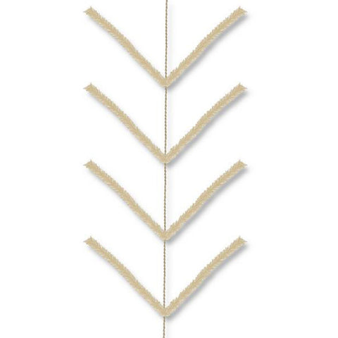 9' Burlap Work Garland Pencil - (XX7524W4)