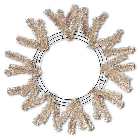 "24"" Burlap Work Wreath - (XX7488W4)"