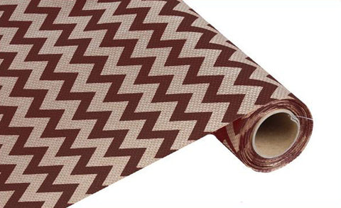 "19"" Chocolate and Beige Wide Chevron Fabric Roll - 19"" x 5 yds - (RG70225FG)"