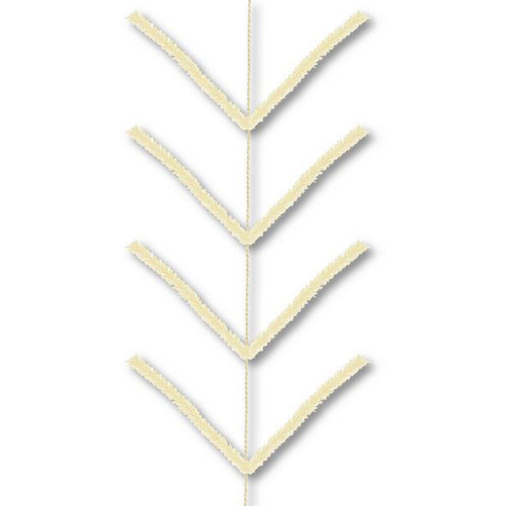 Wreath Supplies-9' Cream Pencil Work Garland - (XX752439)-Sassy Chic Boutique