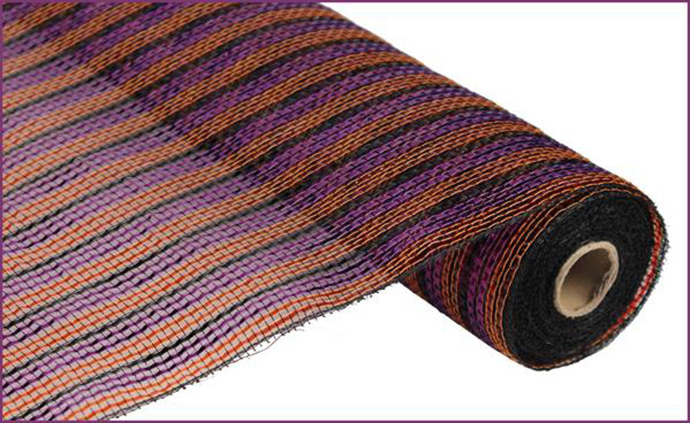 "Wreath Supplies-Deluxe Deco Mesh Orange, Purple, And Black - (RE1047F2) - 21"" x 10 yds-Sassy Chic Boutique"