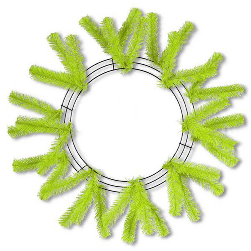 "Wreath Supplies-24"" Fresh Green Work Wreath - (XX748855)-Sassy Chic Boutique"