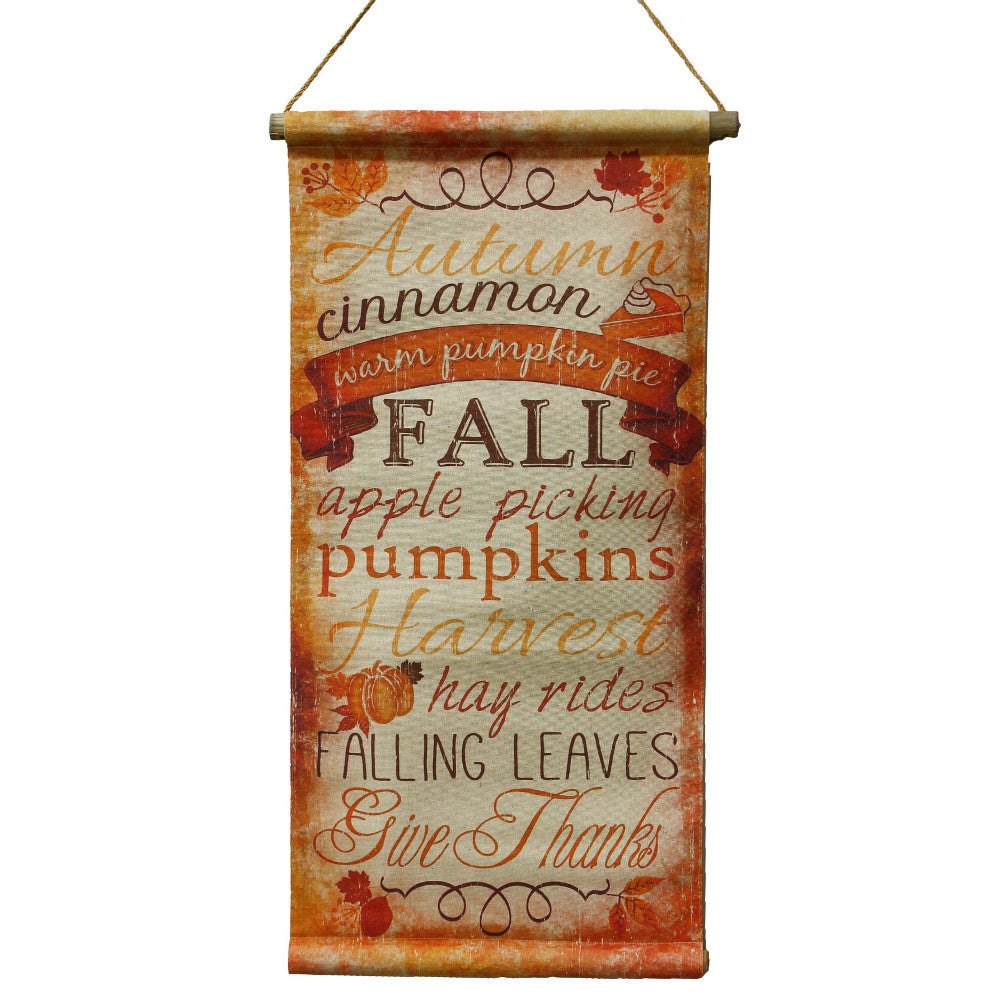 "Home Decor-Thanksgiving/Fall Word Banner with Hanger - 32.5""-Sassy Chic Boutique"