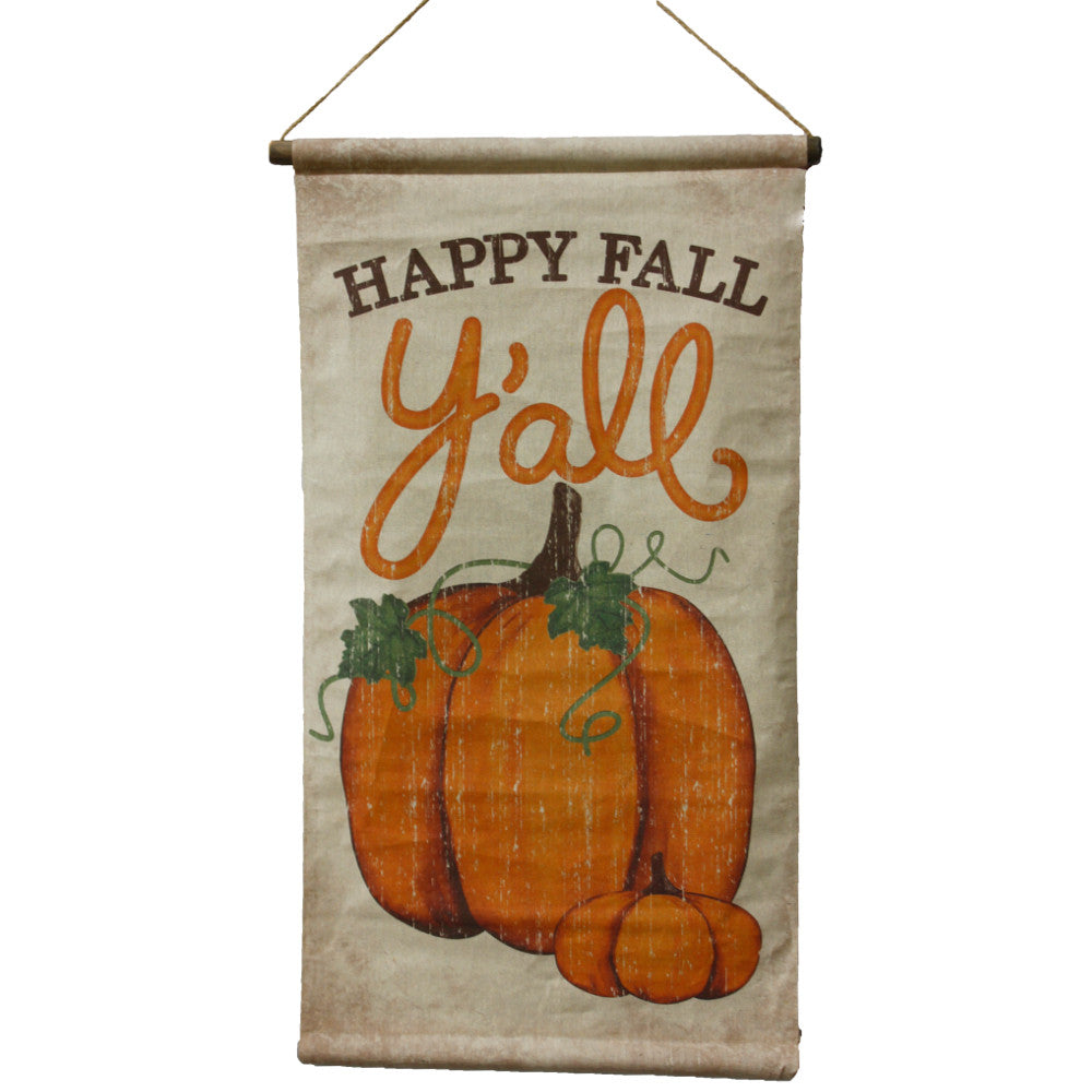 "Home Decor-Hanging ""Happy Fall Y'all"" Banner - 36.5""-Sassy Chic Boutique"