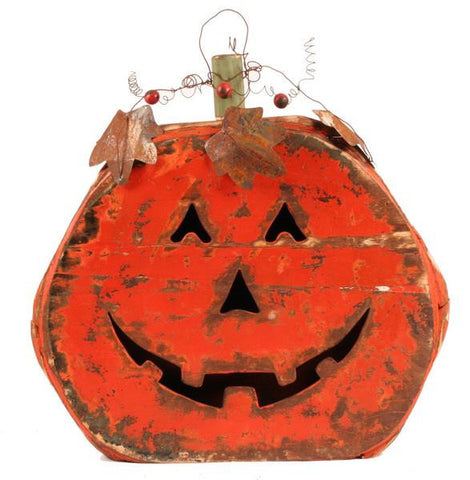 "Orange/Red 24.5""H Pumpkin W/Face"
