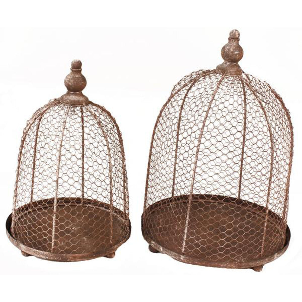 Home Decor-Decorative Chicken Wire Containers - Set of 2-Sassy Chic Boutique