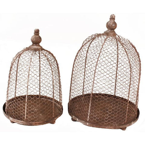 Decorative Chicken Wire Containers - Set of 2