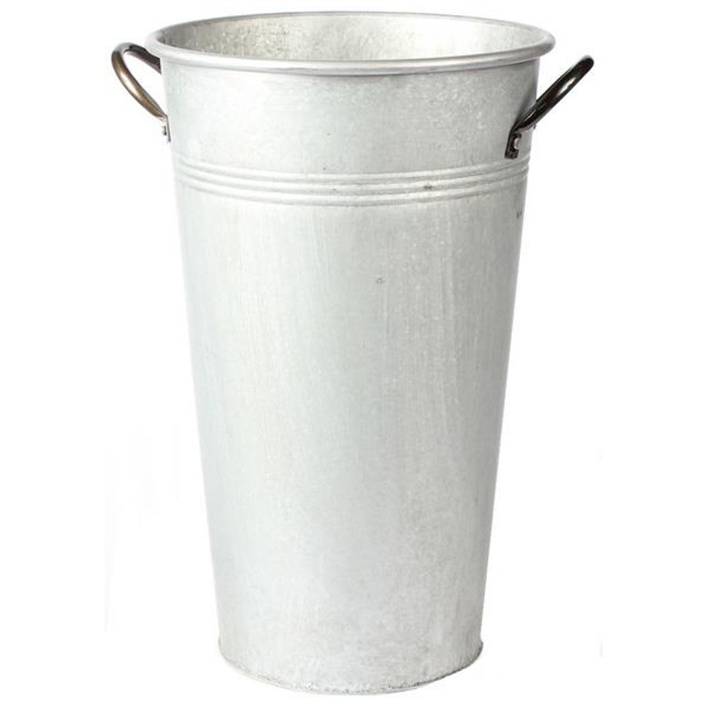 "Home Decor-Washed Metal Bucket with Handles - 15""-Sassy Chic Boutique"