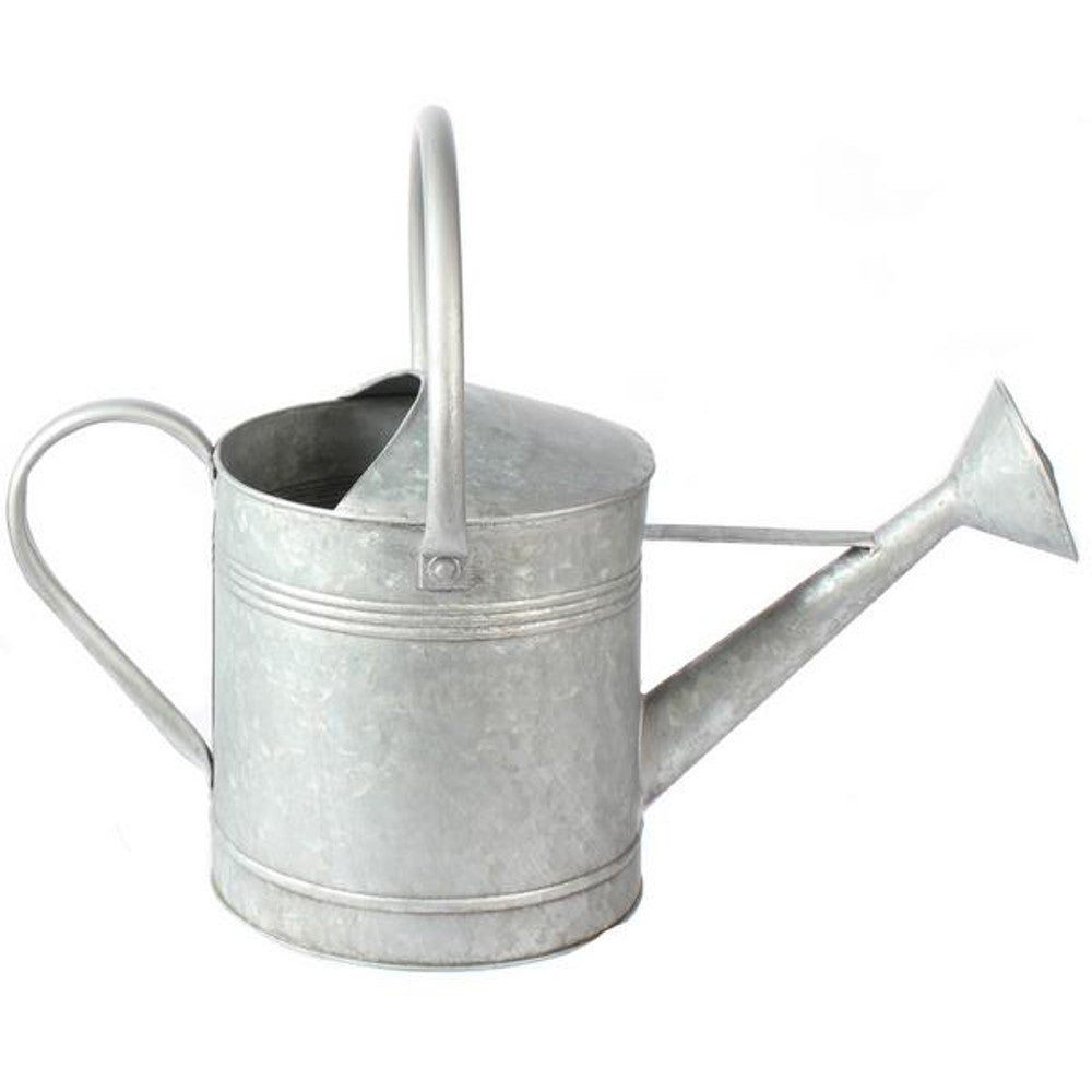 "Home Decor-Washed Metal Watering Can with Handle - 18""-Sassy Chic Boutique"