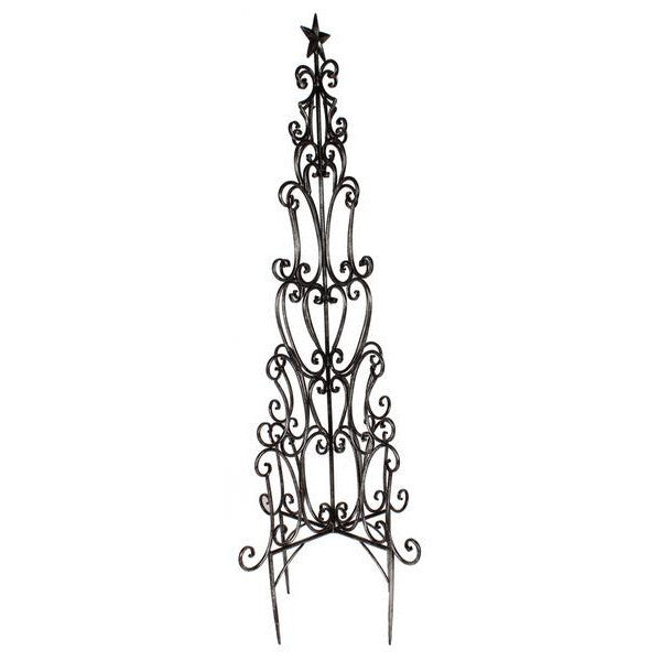 "Home Decor-Antique Silver 48""H Tree Wire Garden Stake-Sassy Chic Boutique"