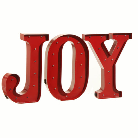 "Metal Christmas LED Letter ""J"", ""O"", and ""Y"" - Red (3525556)"