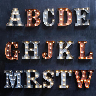 "Home Decor-9"" Metal LED Letter ""D"" - Rust (DA3724A)-Sassy Chic Boutique - 3"
