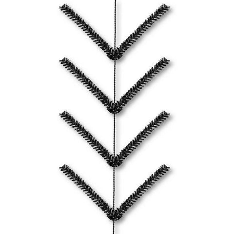 9' Metallic Black Pencil Work Garland - (XX752502)