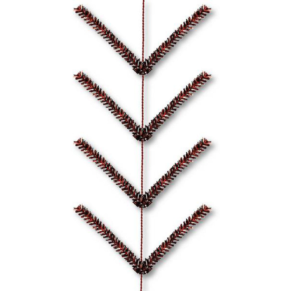 Wreath Supplies-9' Metallic Chocolate Pencil Work Garland - (XX752540)-Sassy Chic Boutique