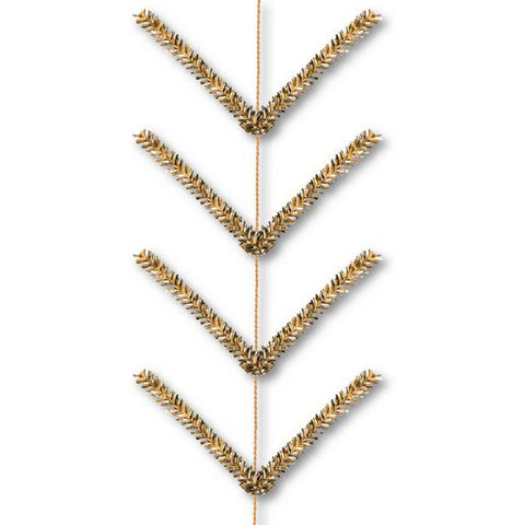 9' Metallic Gold Pencil Work Garland - (XX752508)