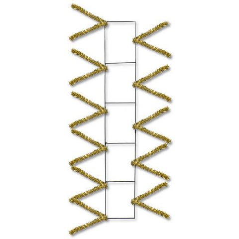 "22"" Metallic Gold Pencil Work Rail - 22"" x 4"" Deco Mesh - (XX759908)"