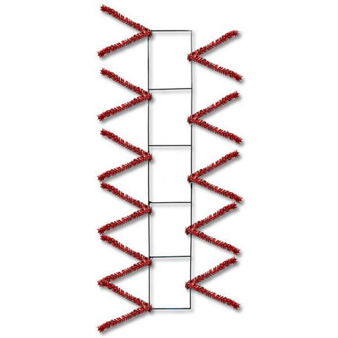 "22"" Metallic Red Pencil Work Rail - 22"" x 4"" Deco Mesh - (XX759924)"