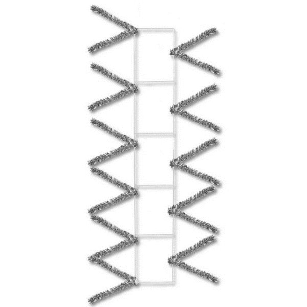 "Wreath Supplies-22"" Metallic Silver Pencil Work Rail - 22"" x 4"" Deco Mesh - (XX759926)-Sassy Chic Boutique"