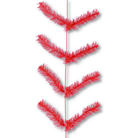 9' Red Deco Poly Mesh Work Garland - (XX752024)
