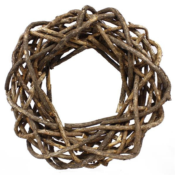 "Wreaths and Door Decor-Natural 23.5""Dia Peeling Rattan Woven Wreath-Sassy Chic Boutique"
