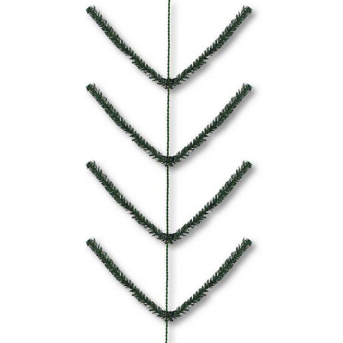 9' Tt Green Pencil Work Garland - (ZZ752360)