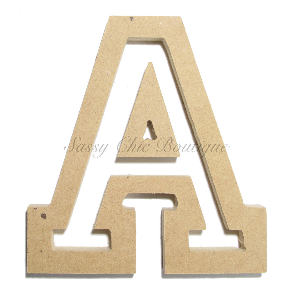 "DIY-Unfinished Wooden Letter - Uppercase ""A"" - All Star Font-Sassy Chic Boutique"