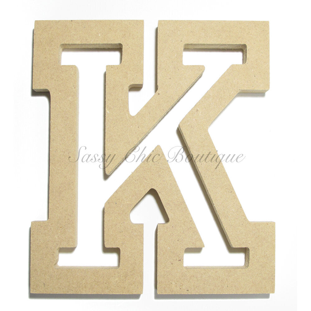 "DIY-Unfinished Wooden Letter - Uppercase ""K"" - All Star Font-Sassy Chic Boutique"
