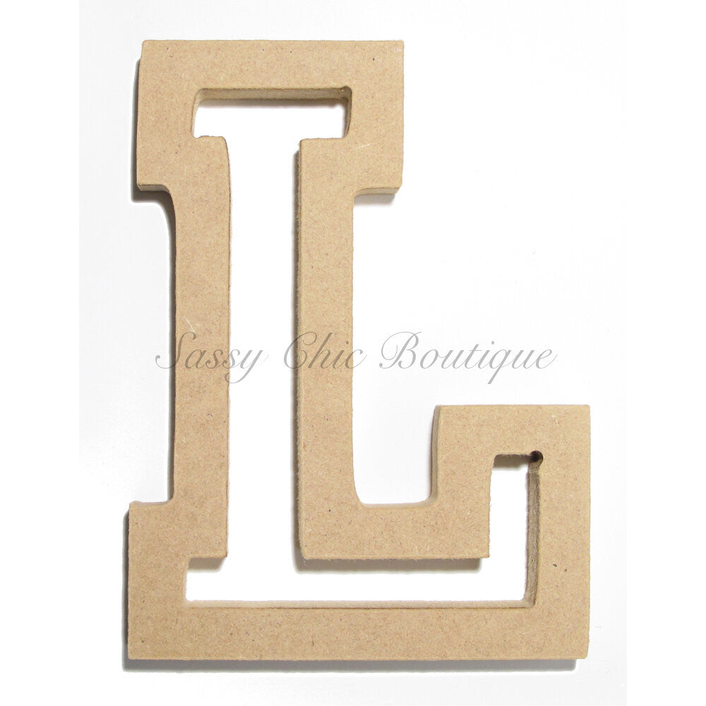 "DIY-Unfinished Wooden Letter - Uppercase ""L"" - All Star Font-Sassy Chic Boutique"