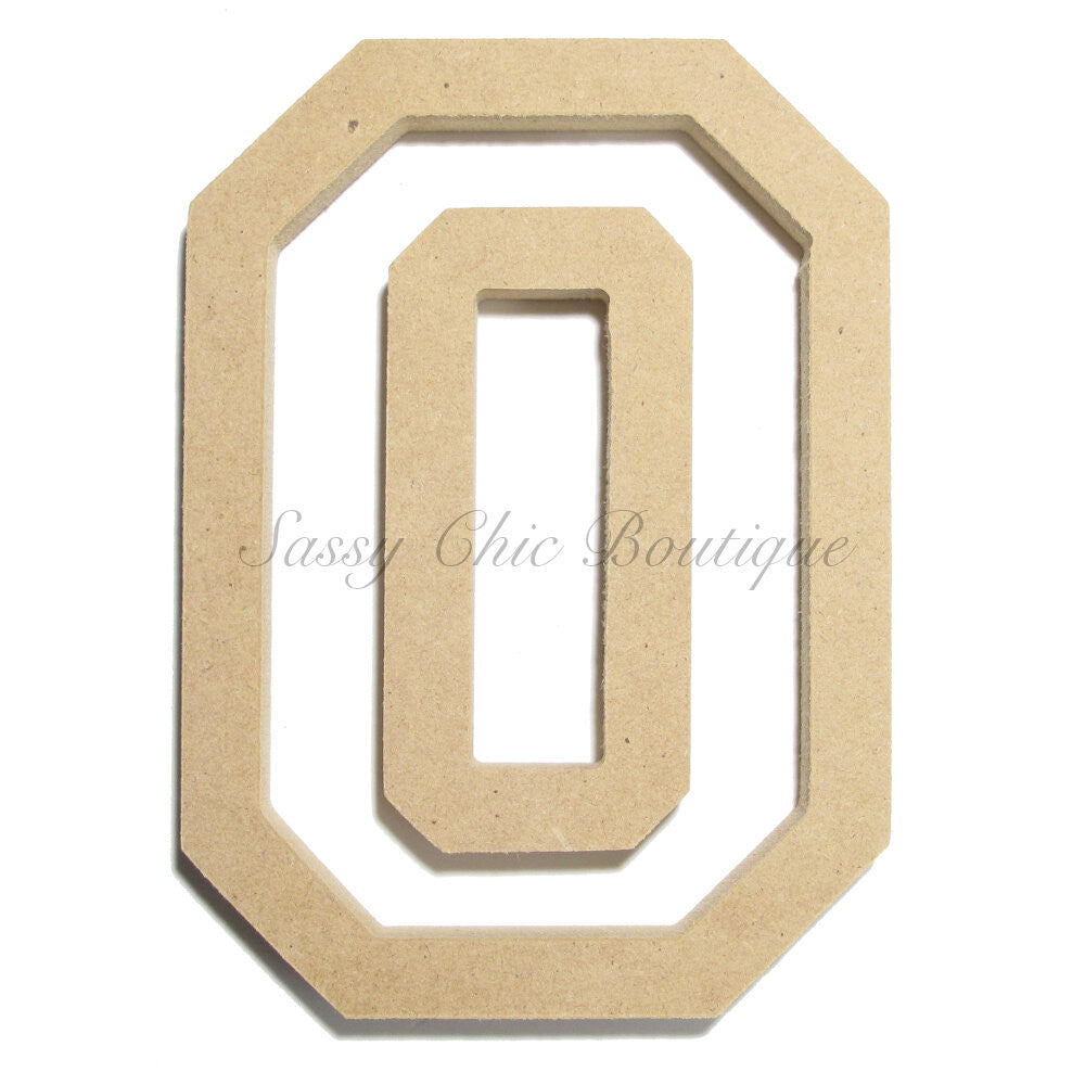 "DIY-Unfinished Wooden Letter - Uppercase ""O"" - All Star Font-Sassy Chic Boutique"