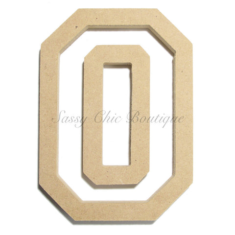 "Unfinished Wooden Letter - Uppercase ""O"" - All Star Font"