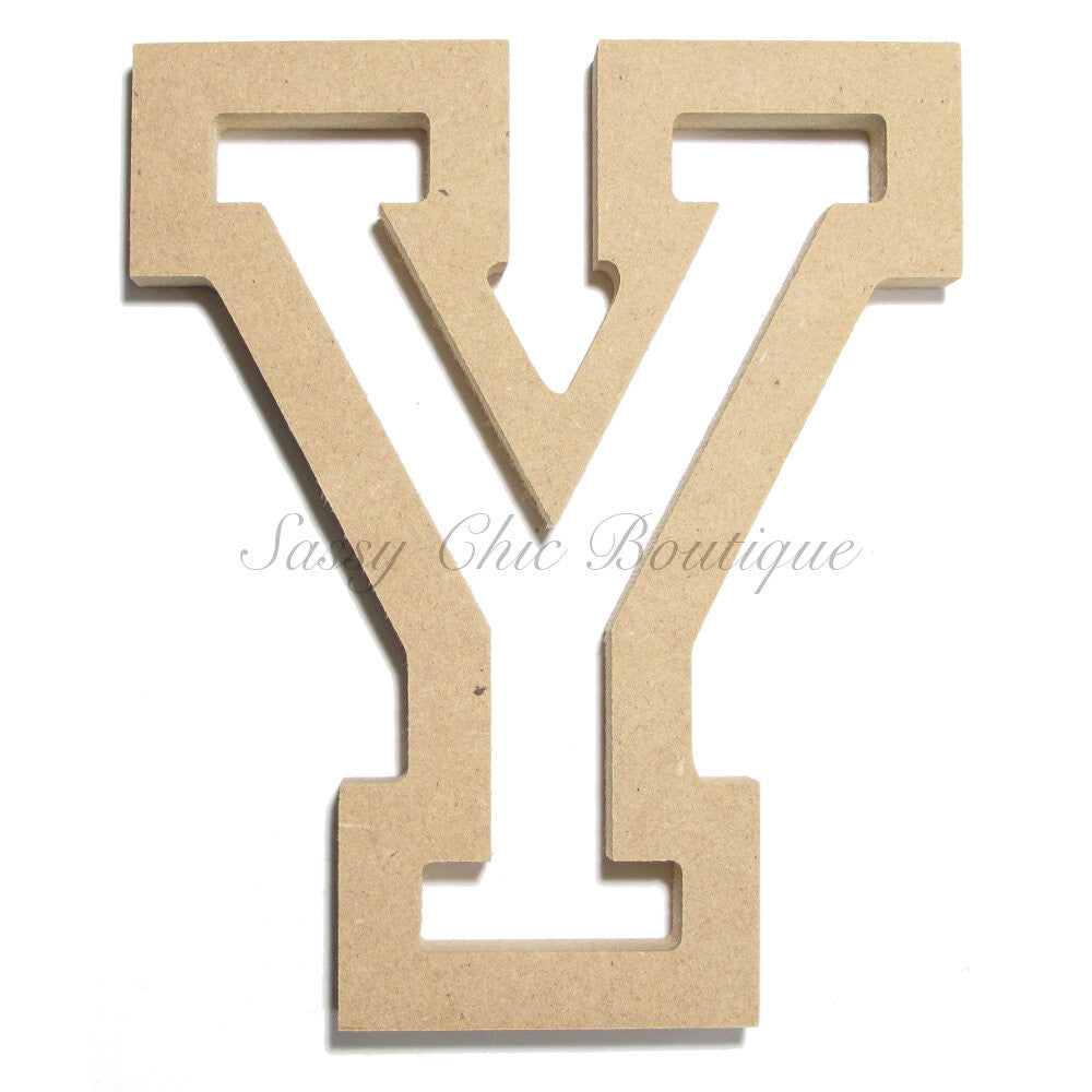 "DIY-Unfinished Wooden Letter - Uppercase ""Y"" - All Star Font-Sassy Chic Boutique"