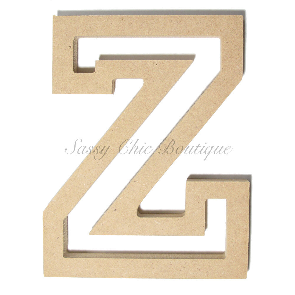"DIY-Unfinished Wooden Letter - Uppercase ""Z"" - All Star Font-Sassy Chic Boutique"