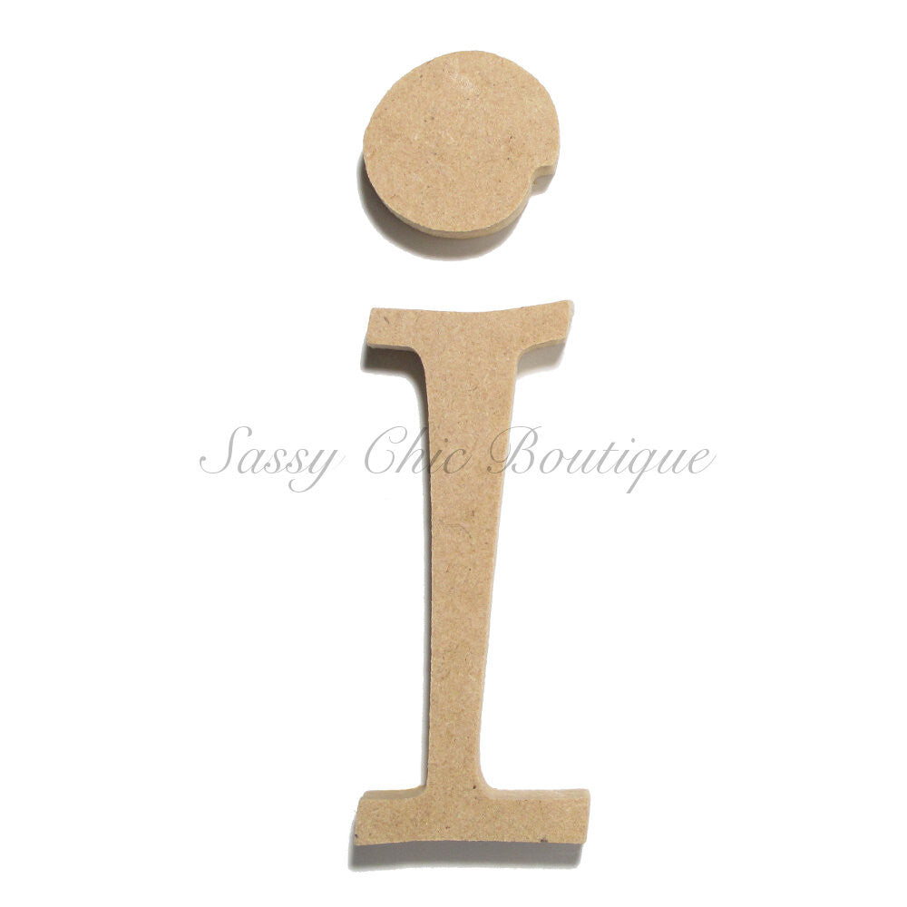 "DIY-Unfinished Wooden Letter - Lowercase ""i""- Curlz Font-Sassy Chic Boutique"