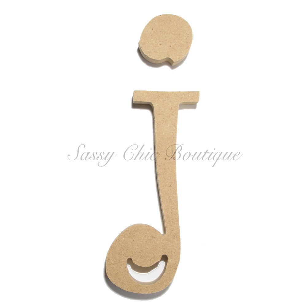 "DIY-Unfinished Wooden Letter - Lowercase ""j""- Curlz Font-Sassy Chic Boutique"
