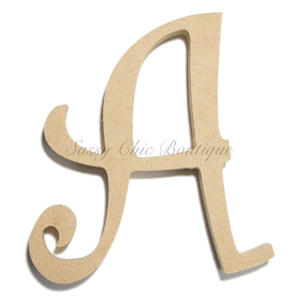 "DIY-Unfinished Wooden Letter - Uppercase ""A"" - Curlz Font-Sassy Chic Boutique"