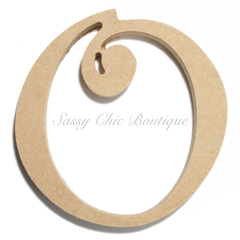 "DIY-Unfinished Wooden Letter - Uppercase ""O"" - Curlz Font-Sassy Chic Boutique"
