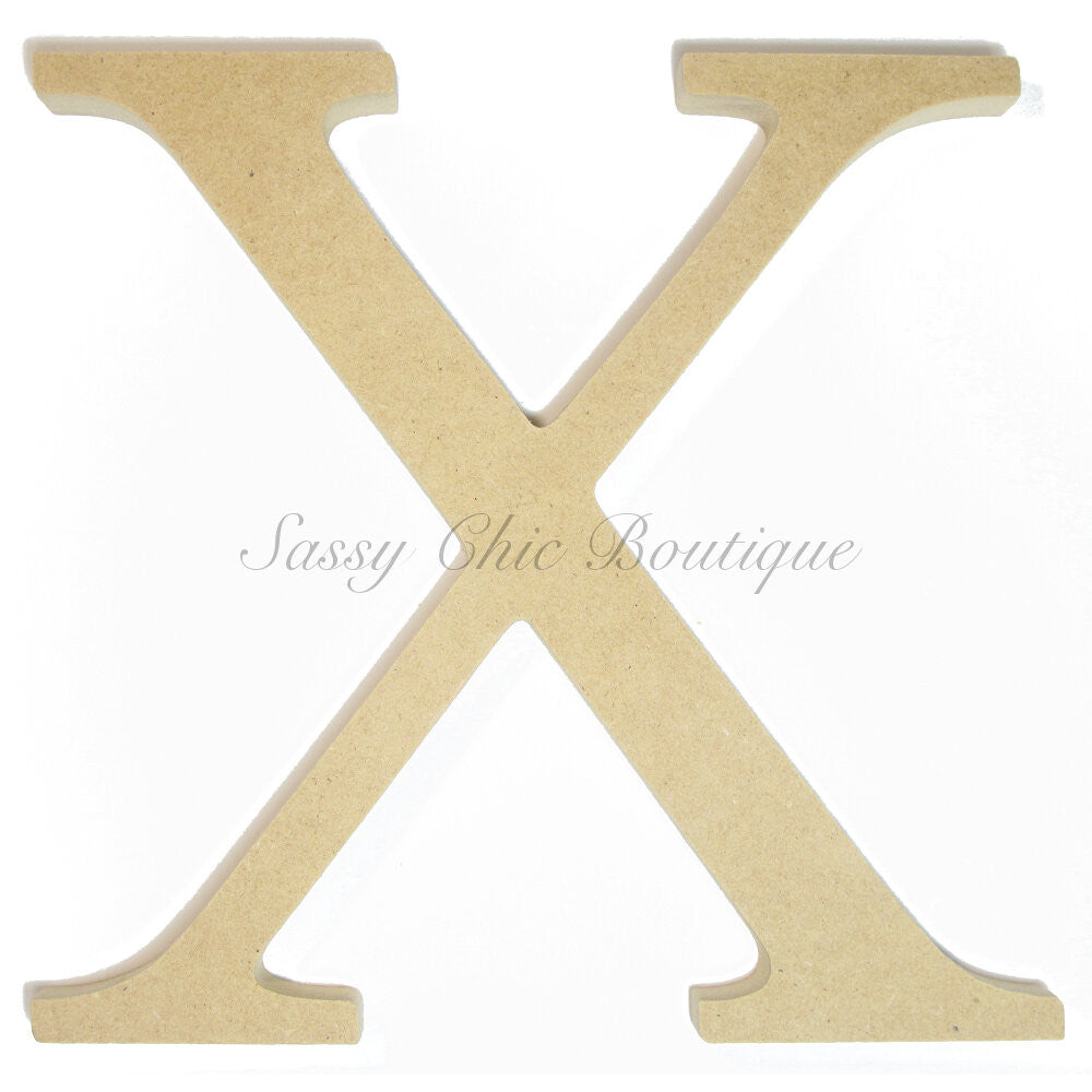 "DIY-Unfinished Wooden Greek Letter ""Chi""-Sassy Chic Boutique"