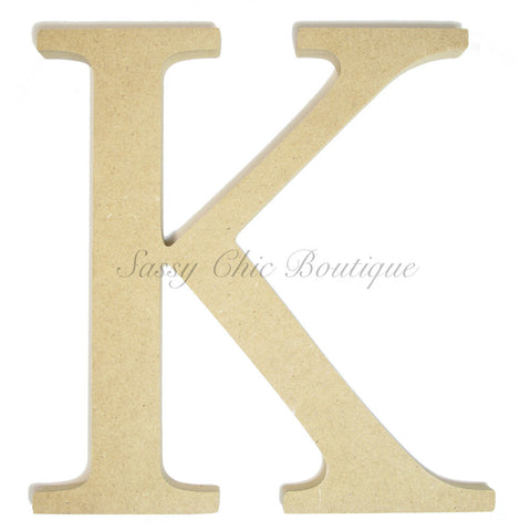 "Unfinished Wooden Greek Letter ""Kappa"""