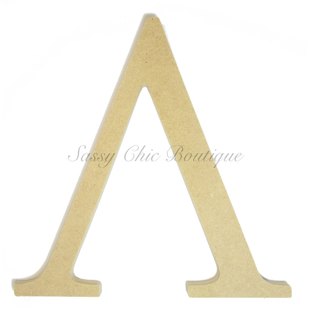 "DIY-Unfinished Wooden Greek Letter ""Lamda""-Sassy Chic Boutique"