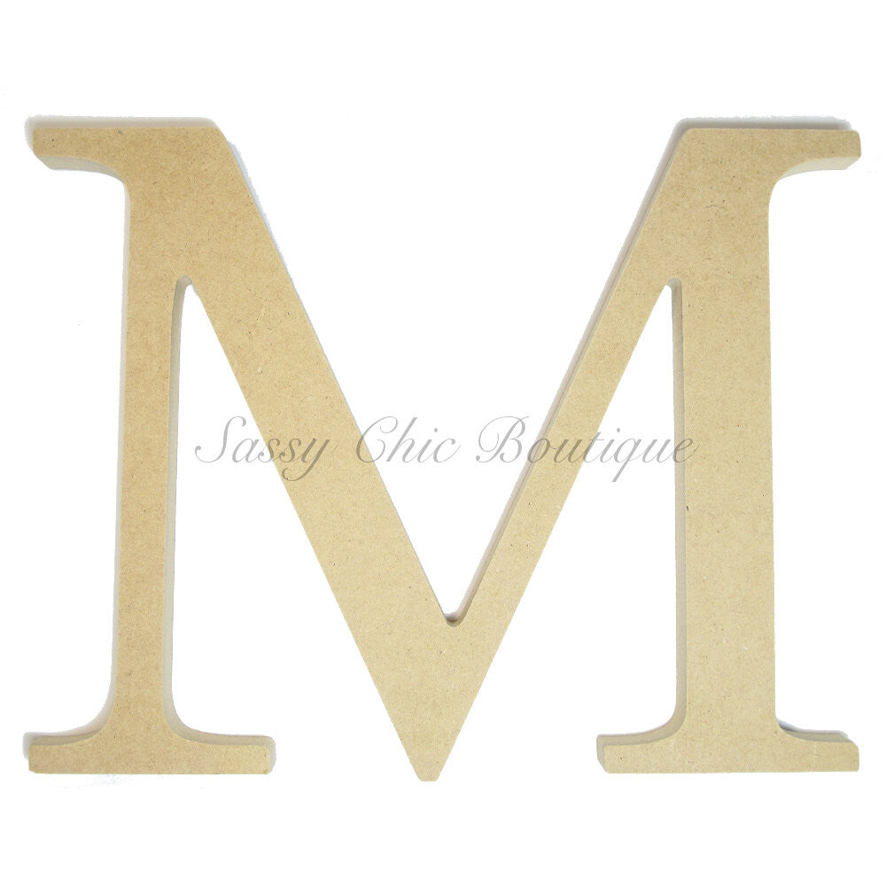 "DIY-Unfinished Wooden Greek Letter ""Mu""-Sassy Chic Boutique"