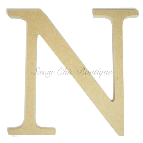 "Unfinished Wooden Greek Letter ""Nu"""